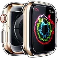 Overall iWatch Protective Case for Apple Watch Screen Protector Series 3 2 1 38mm, Ultra Thin Clear iWatch 38mm Screen…
