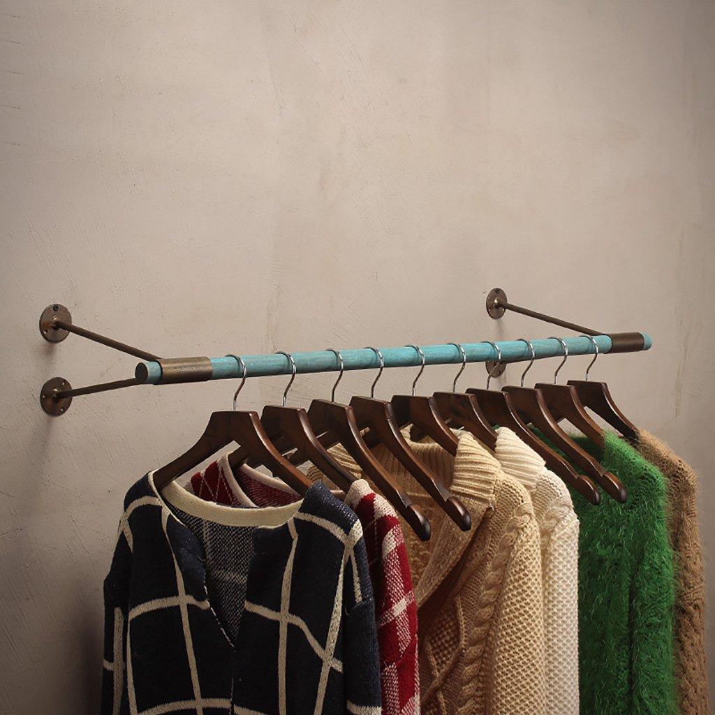 衣料品店ディスプレイスタンドハンガーディスプレイスタンドレディースショップシェルフレトロ壁掛けハンガー衣類ハンガーシェルフ (色 : D, サイズ さいず : 120cm) 120cm D B07QSVP488