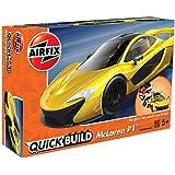 エアフィックス クイックビルドシリーズ マクラーレン P1 イエロー 塗装済みブロック式組み立てキット QB6013 プラモデル