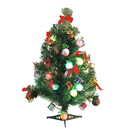 lohome 60cm236 mini christmas tree artificial tabletop christmas pine tree