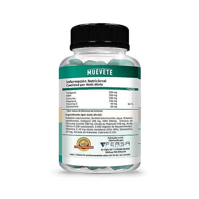 ... Articular - Potente Cúrcuma + Colágeno + Magnesio + Condroitina + MSM + Vitamina C - 50U. de Rápida Absorción: Amazon.es: Salud y cuidado personal