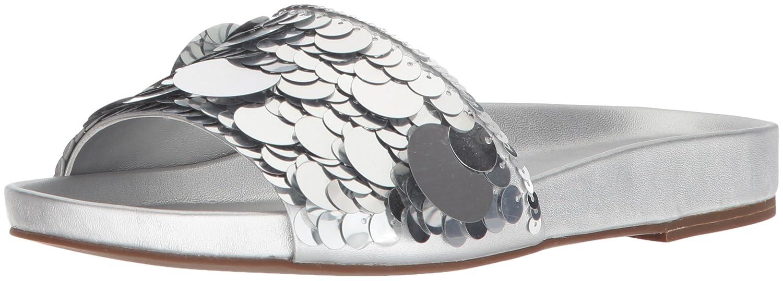 Silver 8.5 Rachel Zoe Womens SP18F17073 Stella Slide