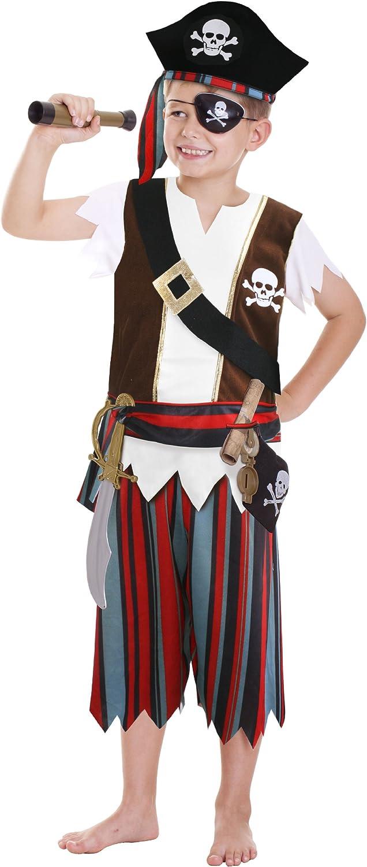 Amscan - Disfraz de pirata para niño, talla 3 - 6 años (CCS00008)