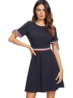 333c749cd8ec PYL Women's Flare Sleeve V Neck Floral Wrap Midi Dress at Amazon ...