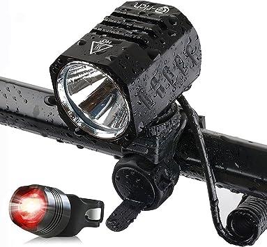 Foco LED para bicicletas, 1.200 lm, XM L2, deportes, bicicleta ...