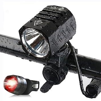 Foco LED para bicicletas, 1.200 lm, XM L2, deportes, bicicleta, lámpara LED con batería, LED luz ...