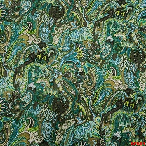 Imprimé Écharpe Femmes Écharpe Verte Enveloppe Poly Soie Écharpes Indiens Écharpe Mode