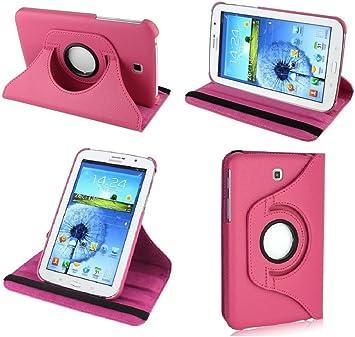 Kingsource (TM) rotatif à 360 ° Cuir Housse support magnétique pour marche/veille pour Samsung Galaxy Tab 4 8.0 Sm-t330nu Tablette 20,3 cm avec 1 ...
