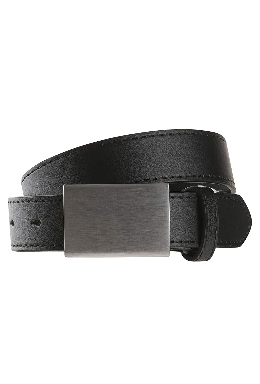 Gato Negro Schwarzer basic Ledergürtel für Jungs 75 868740