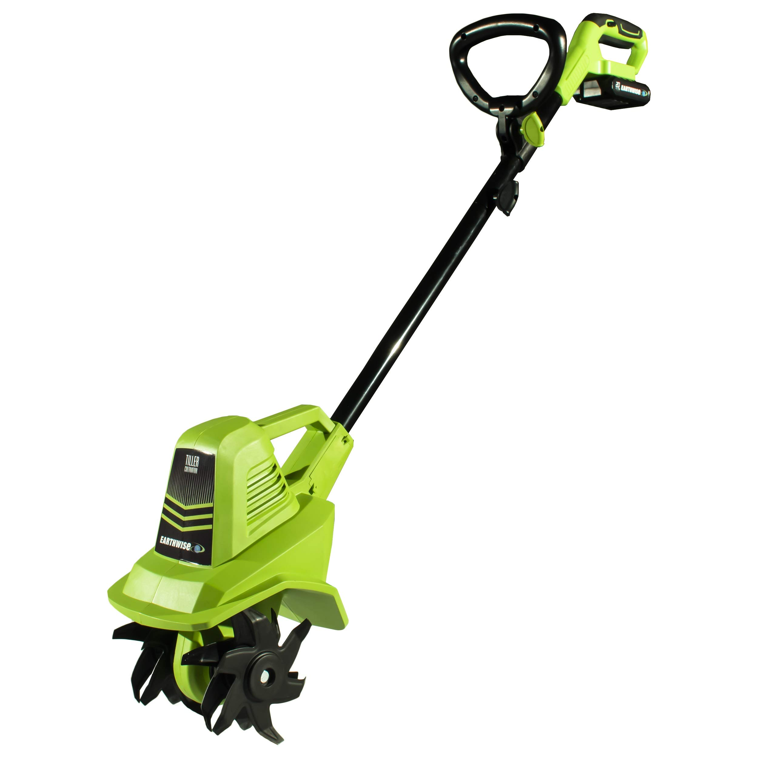 Earthwise TC70020 20-Volt 7.5-Inch Cordless Tiller, (2AH Battery & Fast Charger Included) by Earthwise