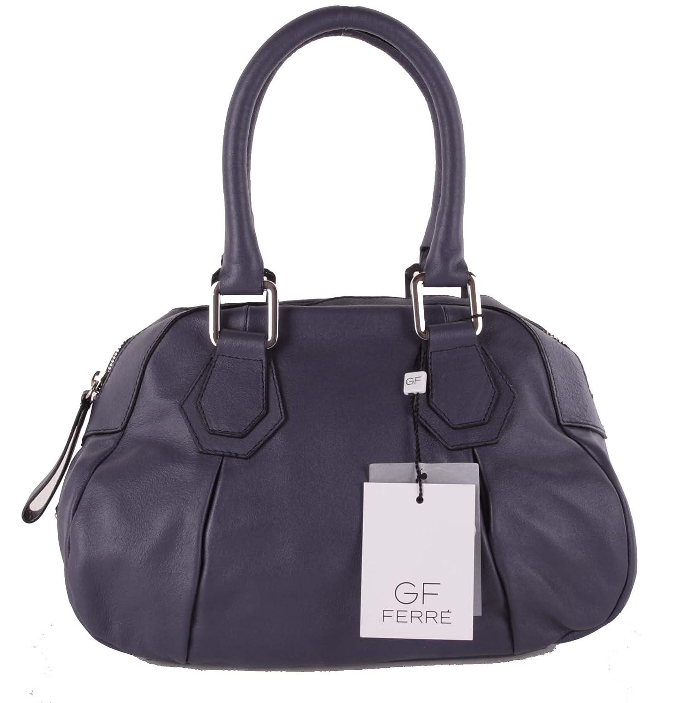 Gian Franco Ferre Women Handbag Genuine Leather Grey X187 Blue