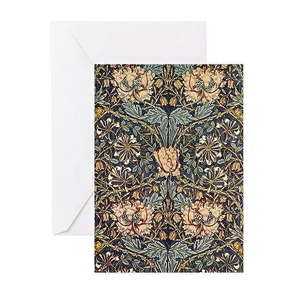 Amazon Cafepress Art Nouveau Blue Vines Greeting Card