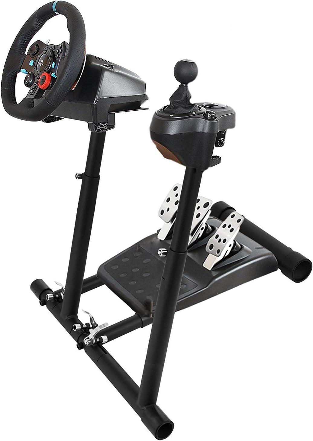 Autovictoria Soporte del Volante para Logitech G29 G920 G27 G25 para PS3 PS4 XBOX No Incluye Silla Volante y Pedal