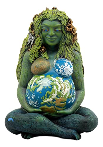 Ebros Gift Millennial Gaia Earth Mother Goddess Te Fiti Statue 7 Tall by Oberon Zell Earth Green