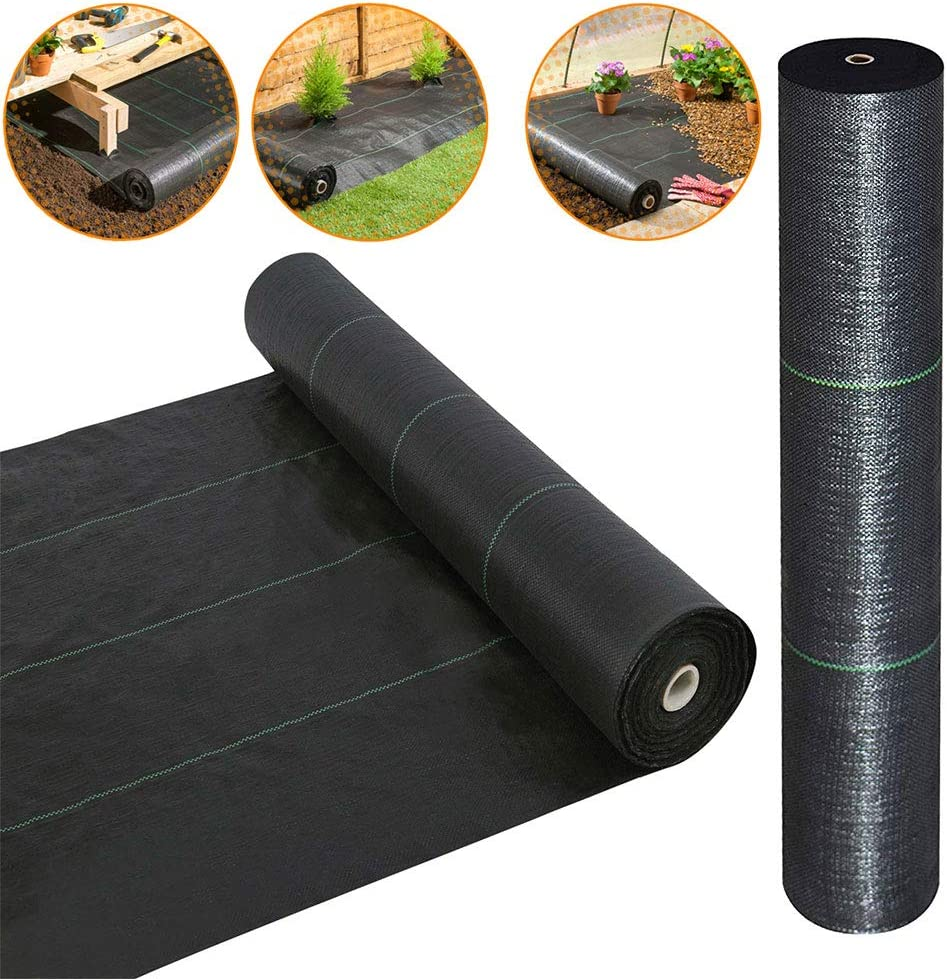 · Petgrow · Heavy Duty Weed Barrier Landscape Fabric for Outdoor Gardens, Non Woven Weed Blockr Fabric - Garden Landscaping Fabric Roll - Weed Control Fabric in Rolls(3FTx100FT) 71lyZQaqp%2BL