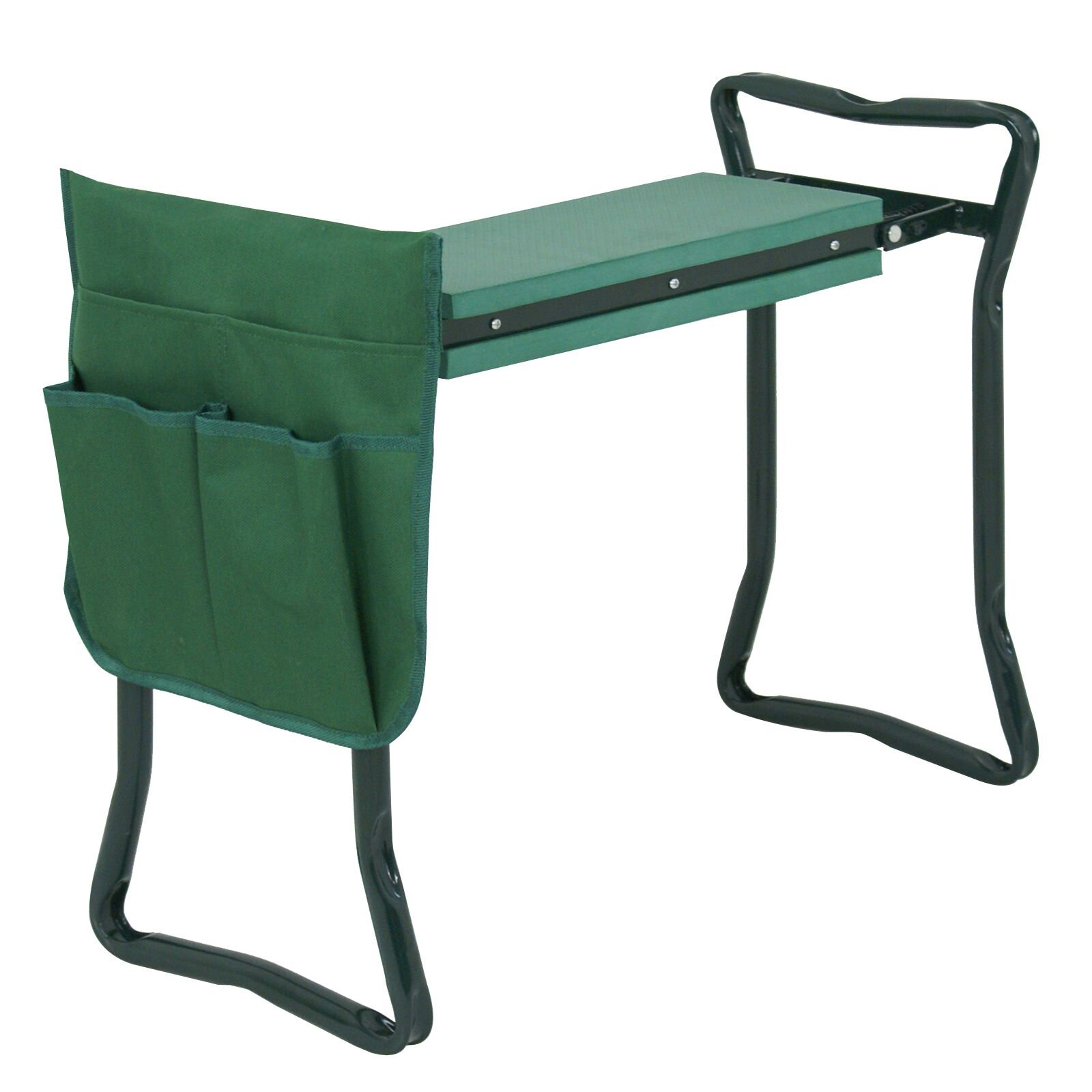 ZENY Folding Garden Kneeler Bench Seat Stool w/Kneeling Pad and Tool Pouch (Green)