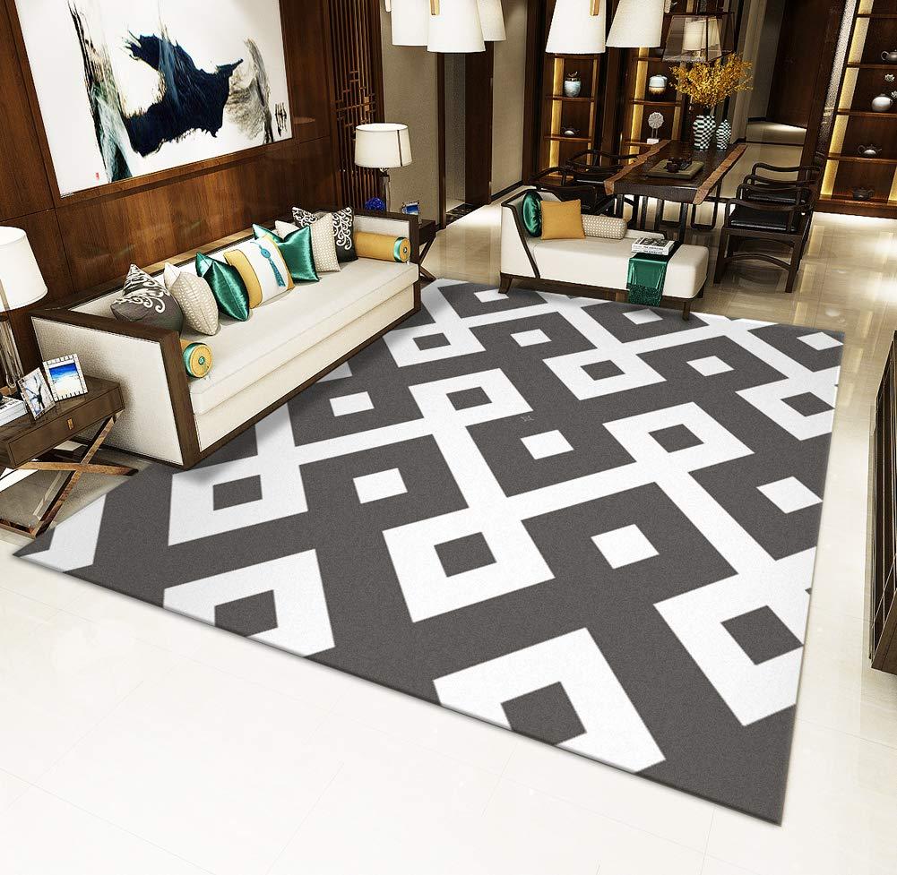 Protege el Suelo al Hacer Pasar la aspiradora m/ás f/ácil la fijaci/ón-A 20x31inch DADAO Alfombra Multi,HD Impreso alfombras