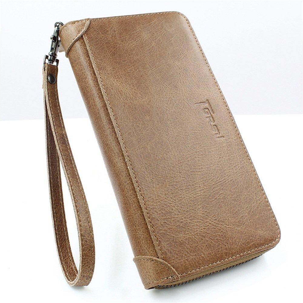 Balalafairy Mens Wallet Credit Card Holder Vintage Leather Mens Wallet Simple Urban Colors Wallet Wallet Money Purse Gift for Gents