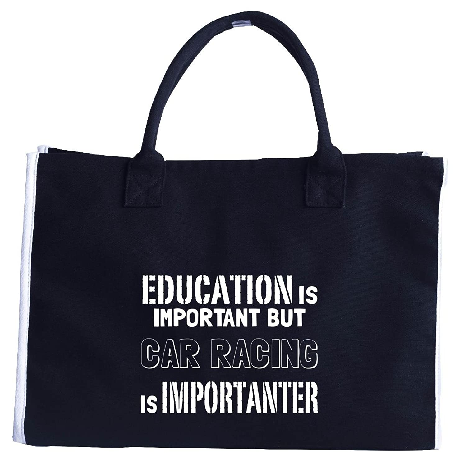 Education Is Important But Car Racing Is Importanter - Tote Bag