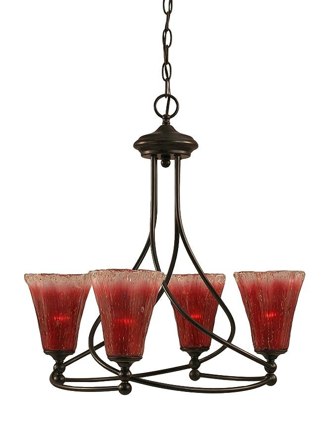 Amazon.com: toltec lighting 904-dg-726 Capri 4 luz lámpara ...