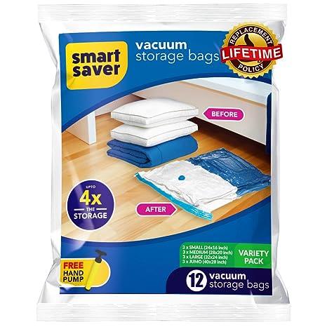 SmartSaver bolsas para almacenamiento al vacío - 6 Jumbo (40 ...