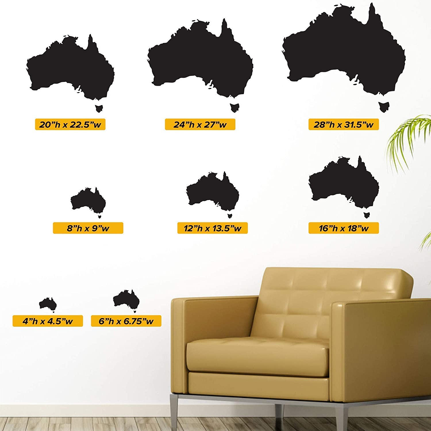 27 tall x 27 wide The Earth Featuring Australia Wall Decal