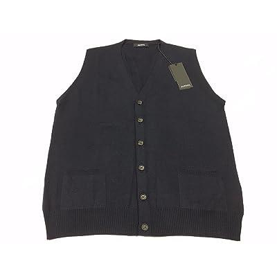 ALPHA STUDIO men's blue vest mod AU-4006D 100% wool
