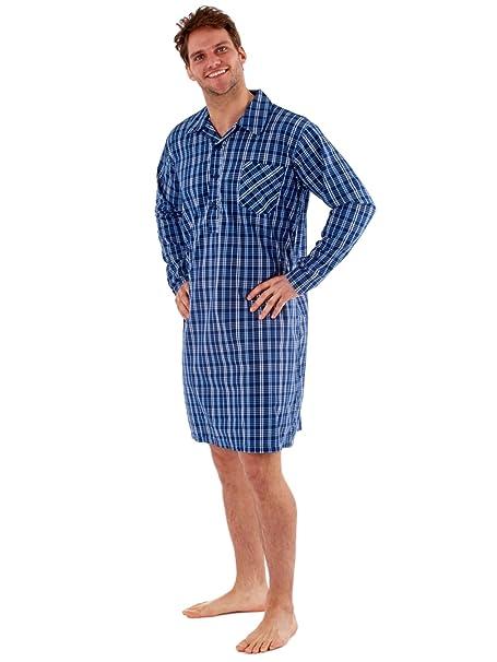 Harvey James - Camiseta de Pijama - Rayas - con Botones - Manga Larga - para Hombre: Amazon.es: Ropa y accesorios