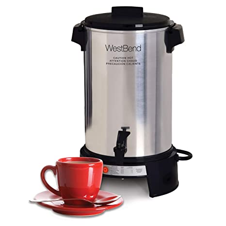 Amazon.com: Cafetera comercial West Bend 13500 de aluminio ...