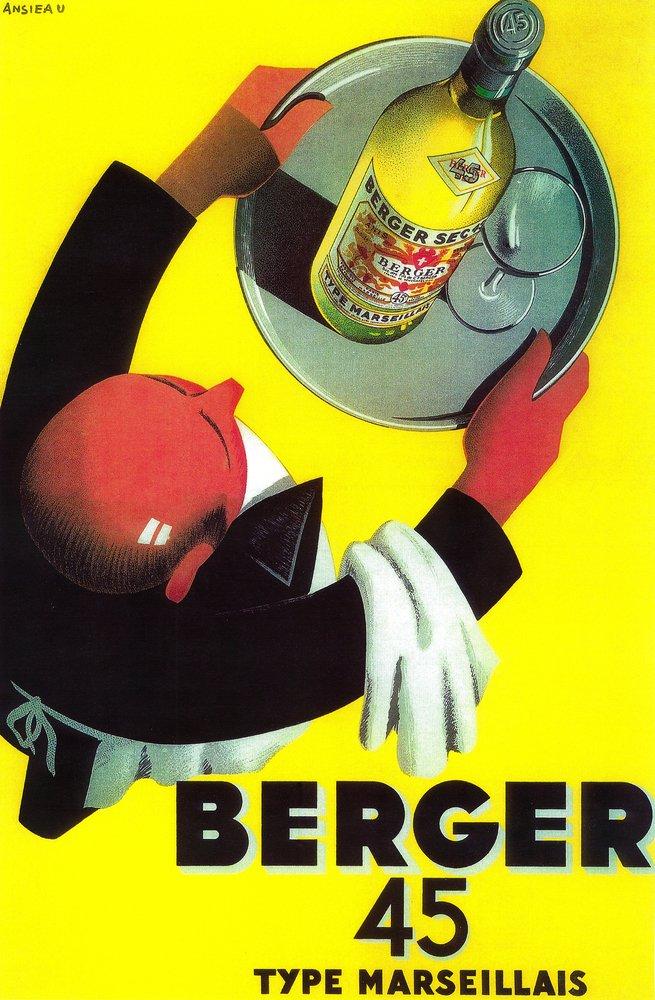Berger 45 Vintage Poster