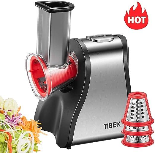 Tibek - Picadora de cocina eléctrica, picadora multifunción 4 en 1, robot de cocina 200 W, picadora para verduras, Fresh Express, negro y plateado: Amazon.es: Hogar