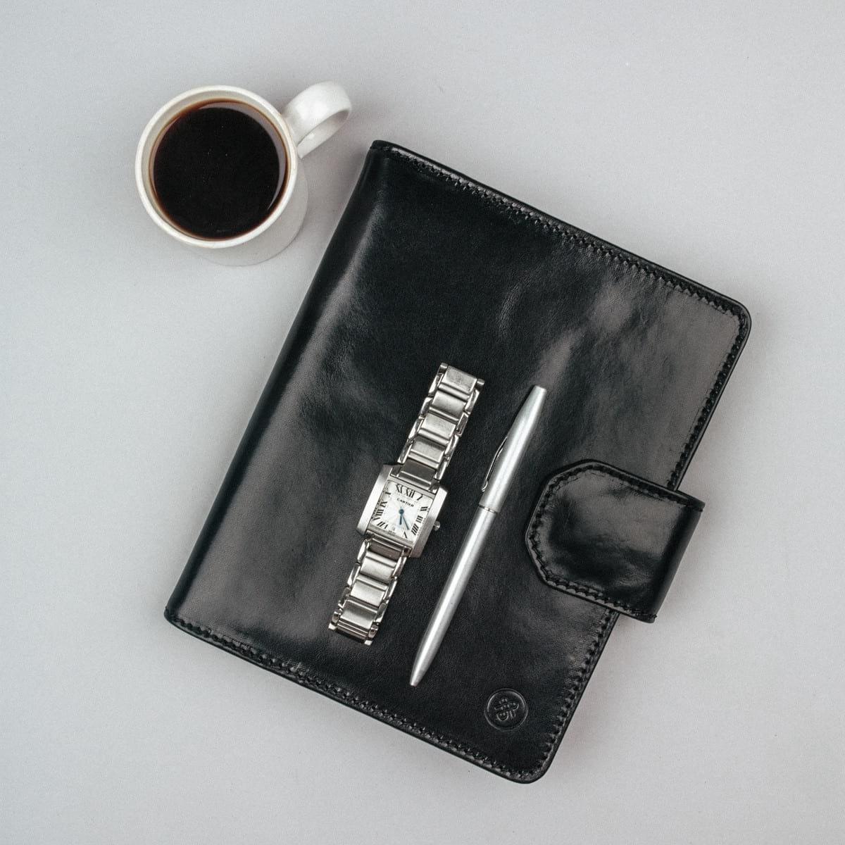 Maxwell Scott® Portafolio de Carpeta café en cuero Italiano de lujo A5 (Mozzano): Amazon.es: Equipaje