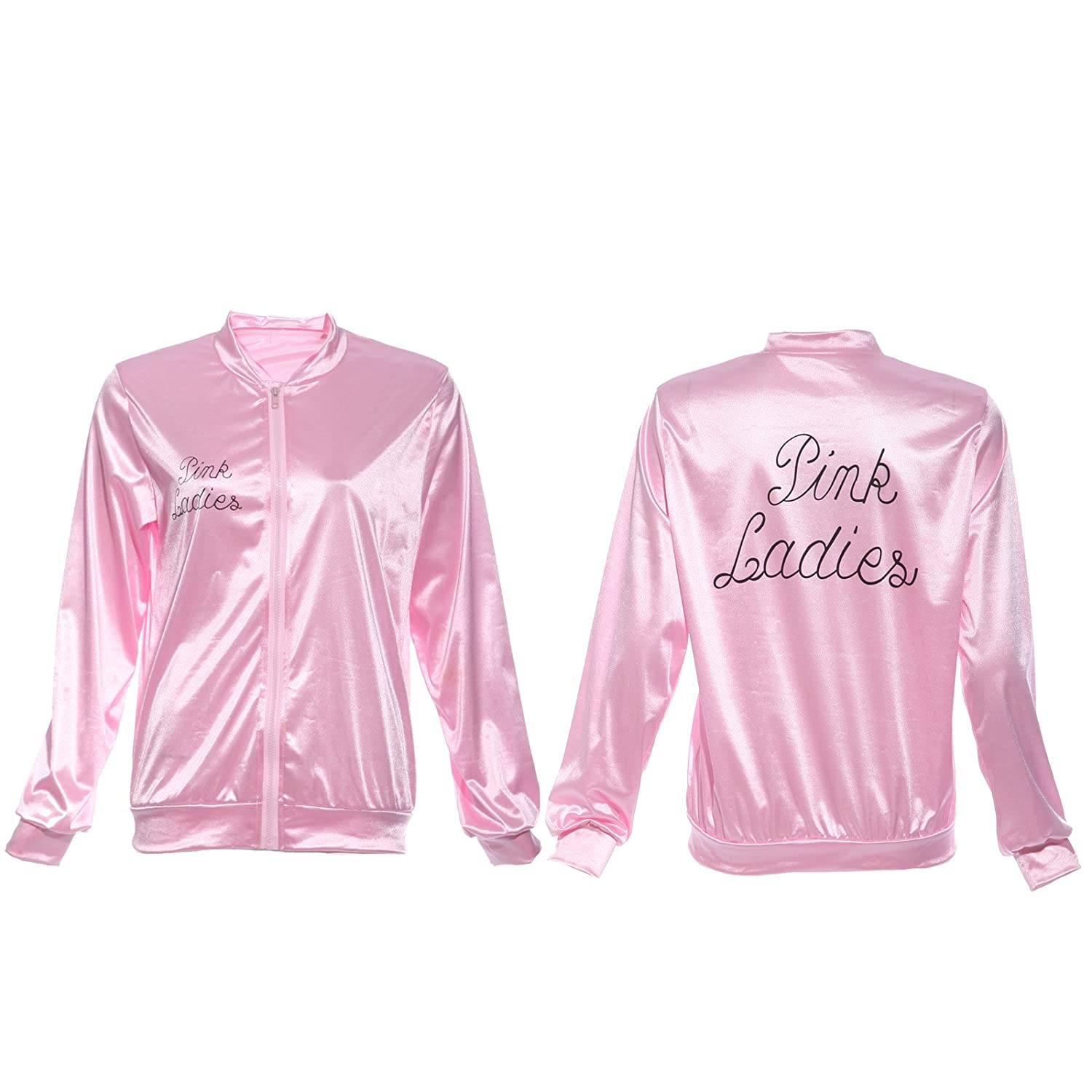 Amazon.com: Ladies 1950s Grease Pink Lady Jacket Costume T-shirt ...