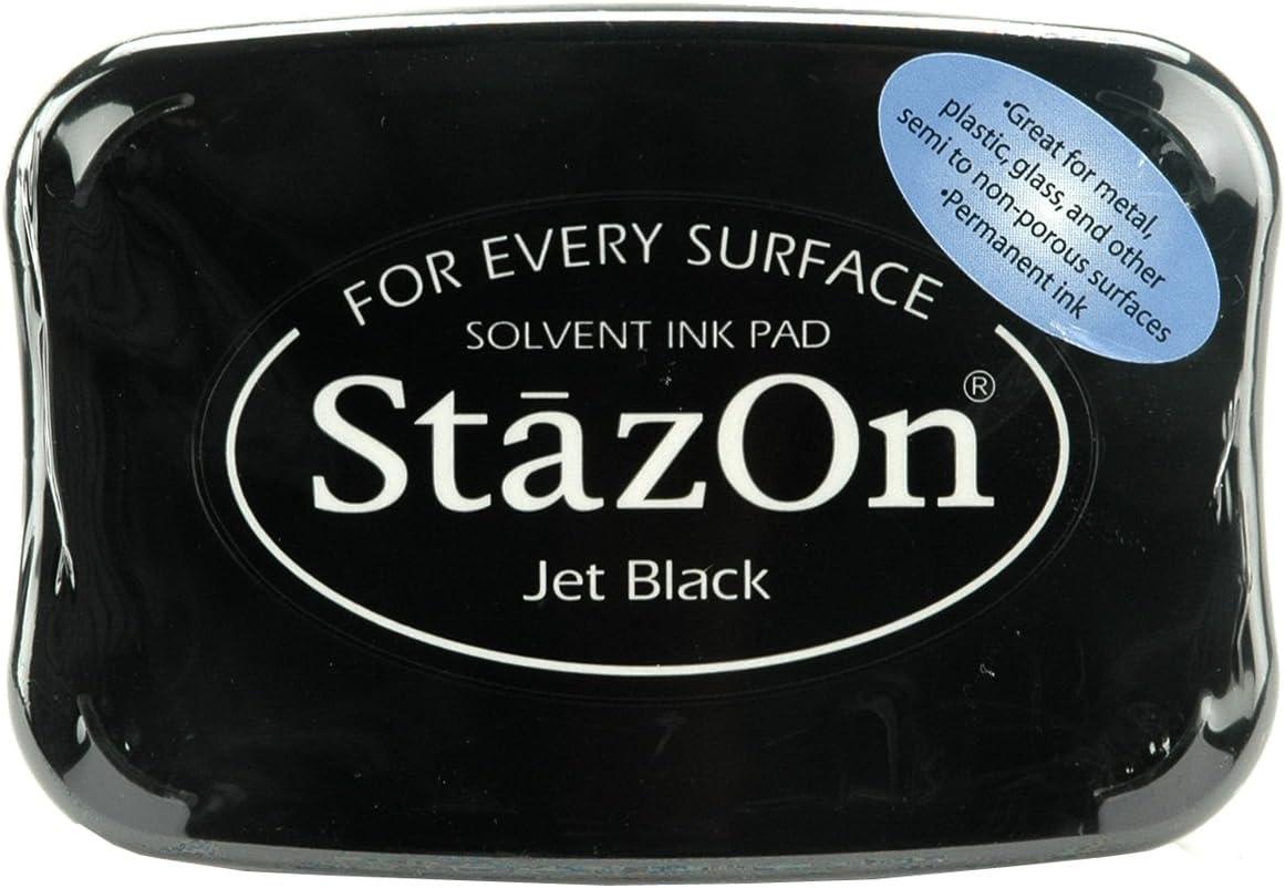Tsukineko Full-Size StazOn Multi-Surface Inkpad Jet Black