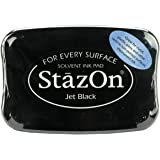 Tsukineko Full-Size StazOn Multi-Surface Inkpad, Jet Black