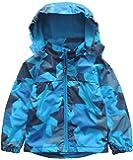 M2C Girls & Boys Hooded Patterned Fleece Lined Waterproof Jacket