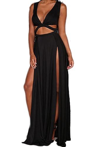 Zeagoo Women's Novelty Jersey Night Club Craving Maxi Long Dance Dress