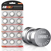 15 Pack LR44 AG13 A76 Battery - [Ultra Power] Premium Alkaline 1.5 Volt Round Button Cell Batteries for Watches Clocks Remotes Games Controllers Toys & Electronic Devices (15 Pack)