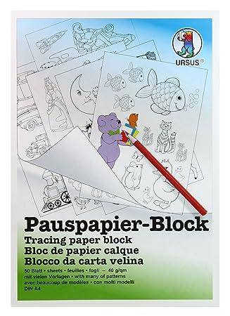 Ursus 7034600 - Pauspapier Block A4, 5 Vorlagen, 50 Blatt: Amazon.de ...