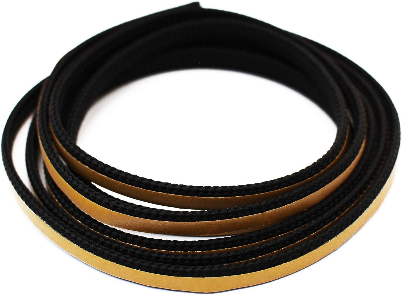 Junta para chimenea, 2 m, diámetro 8 x 2 mm, cinta de sellado autoadhesiva. Apto para modelos de chimeneas Caminos.