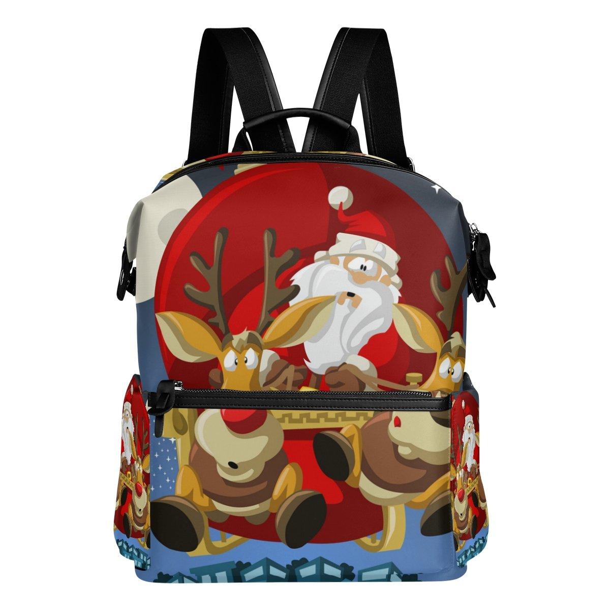 COOSUN Zaino da viaggio Babbo Natale Scuola Zaino Multi