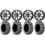 System 3 ST-3 Bronze 18 Wheels 34 MotoHavok Tires 9 Items Bundle 4x137 Bolt Pattern 12mmx1.25 Lug Kit