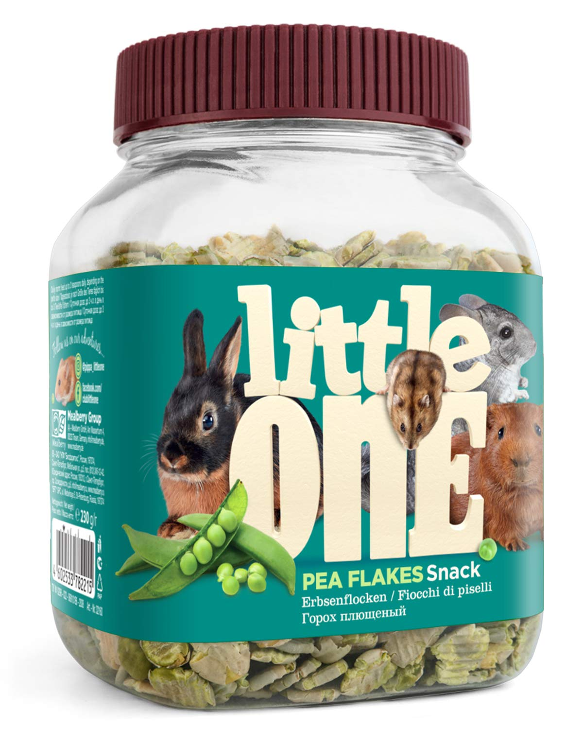 Little One Snack Pea Flakes for Small Animals, 230 g