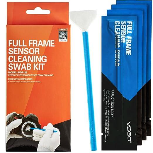 17 opinioni per VSGO Cleaning Kit professionale Full frame DSLR Kit pulizia sensore Sensor Swab
