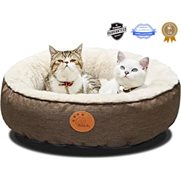 HACHIKITTY Washable Cat Bed Removable Cover, Cat Beds Indoor Cats Medium, Small Pet Bed for Cat Waterproof