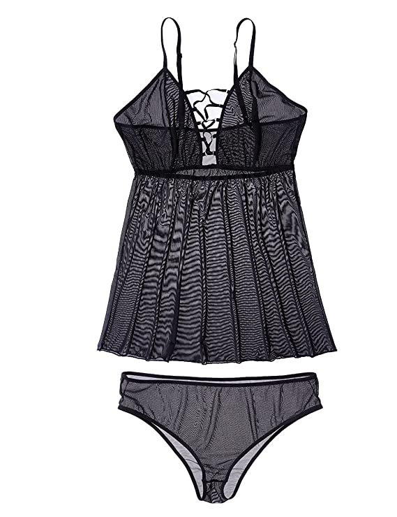 PARTY LADY Sexy Plus Size Babydoll Set V-Neck Sleepwear Lingerie for  Women(M-4XL) at Amazon Women s Clothing store  5816753f8