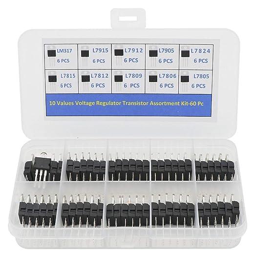 16Pcs L7812 L7915 L7815 L7905 L7809 L7805 L7912 LM317 TO-220 Voltage Regulator