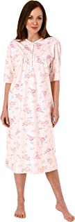 Jeanette by Normann Damen Kurzarm Nachthemd fraulich, 105 cm Länge, florales Muster - 63544