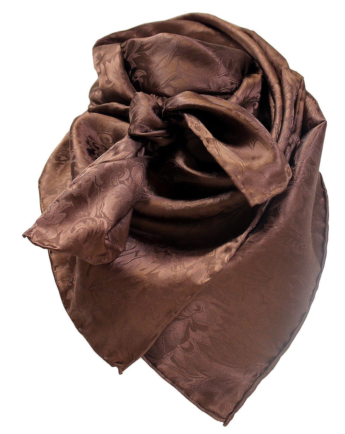 Wild Rag Chocolate Silk Jacquard WRJCH