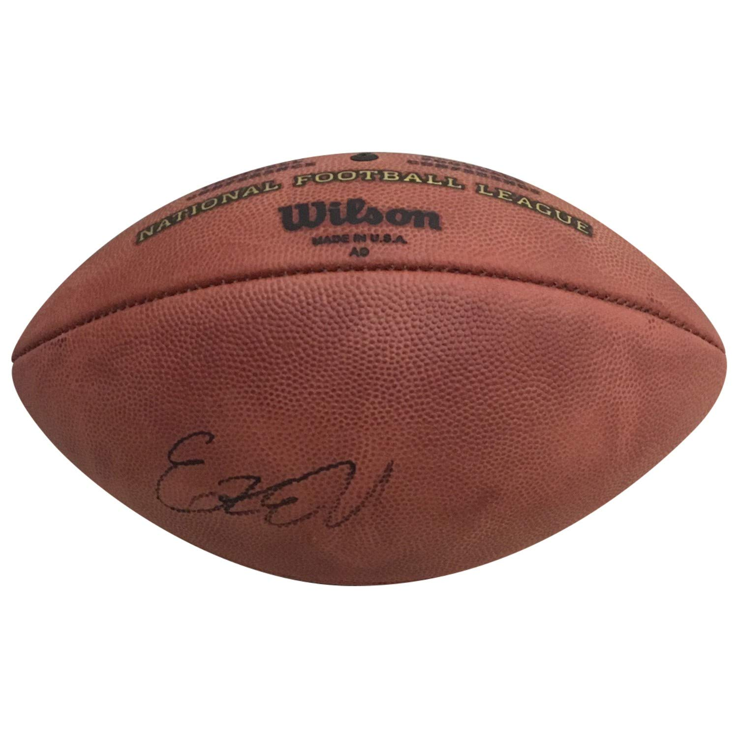 Ezekiel Elliott Dallas Cowboys Autographed NFL Authentic Duke Signed Football PSA DNA COA Powers Collectibles